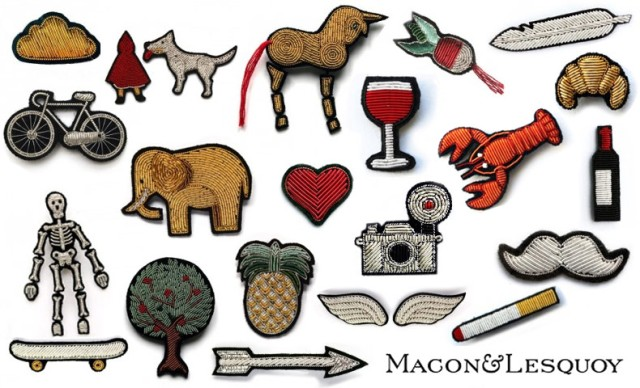 Macon et Lesquoy pins, patches and accessories
